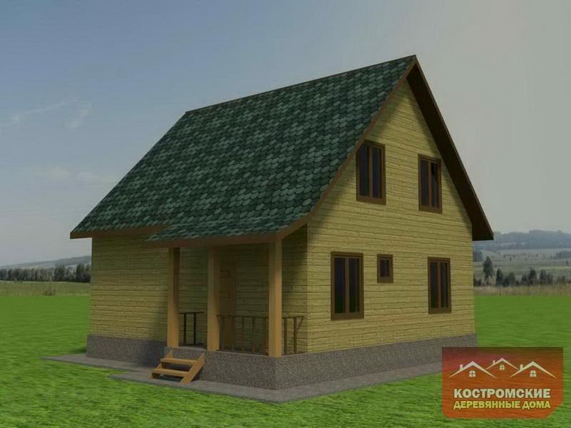Проект брусового дома 9,4х8,7 - планировка, цена