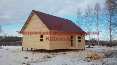 Дом по проекту РБ-82 на свайно-винтовом фундаменте готов